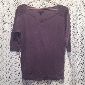 American eagle outfitters lace shoulder top